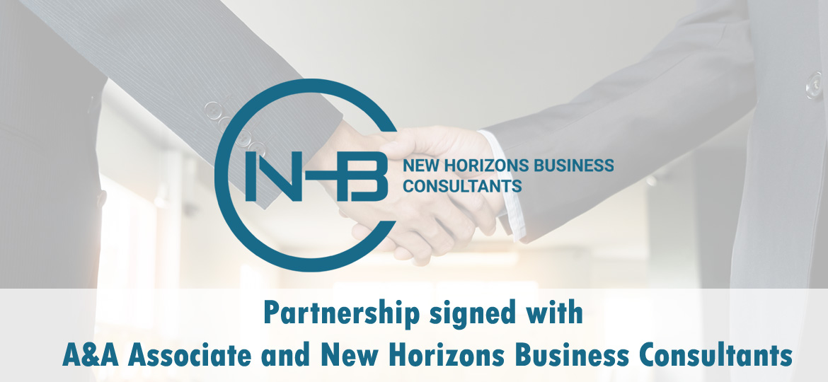 Partnership signed with A&A Associate and New Horizons Business Consultants